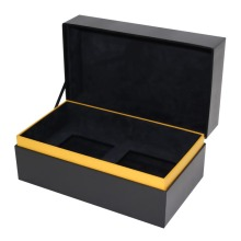Custom Square Black Chipboard Boxes with Lids