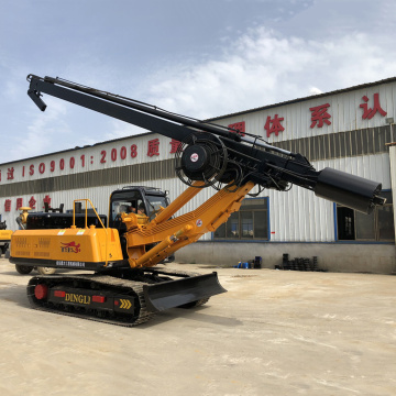 Small auger diesel pile driver machine