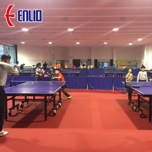 Professional factory selling for Table Tennis Sports Flooring ITTF official approved anti-slip rubber sports court floor export to Spain Factories