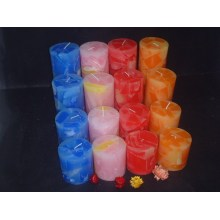 Colored Perfect Decoration Rustic Pillar Candle