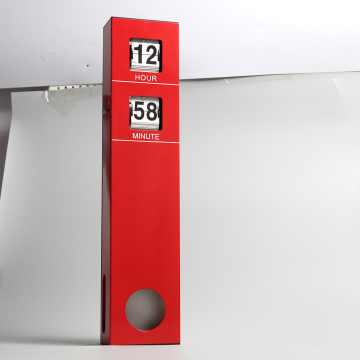 Long Pendulum Hanging Flip Clock Red