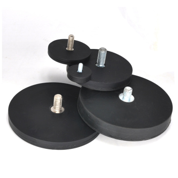 Coating Rubber Magnetic Round Base Thread Rod Type
