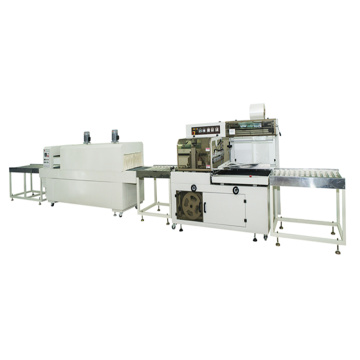 Side sealing rolling cutting Shrinking packing machine