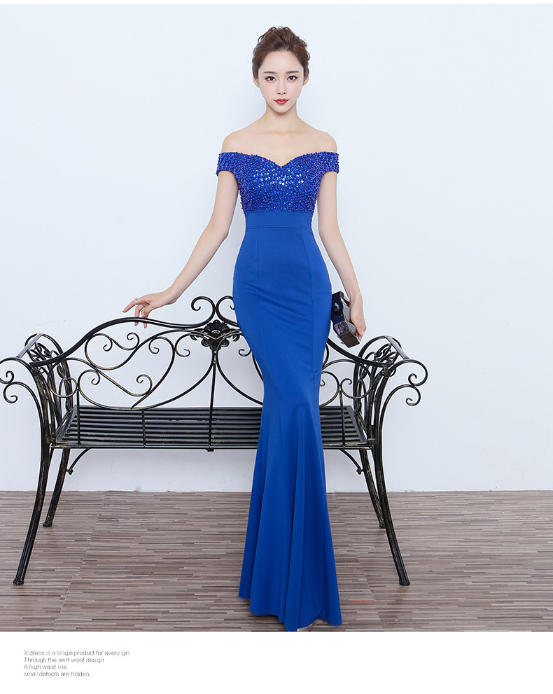 067 # wedding dress 2017 new black Slim thin long evening gown stage catwalk annual car model