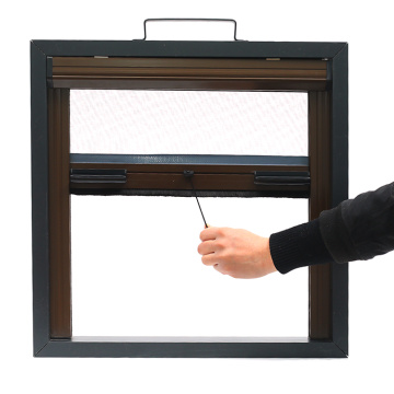 Retractable window with aluminum frame 0960