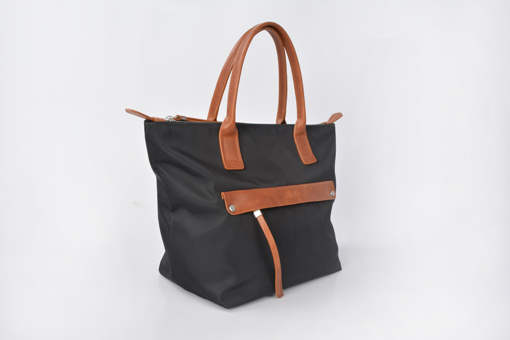 Large-capacity Welcoming Durable Common Nylon Dark Grey Mommy Handbags