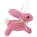 Easter 3D bunny shape hanging ornaments