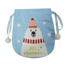 Mini christmas white bear pattern candy gift bag