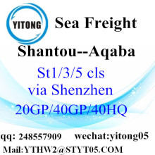 Shantou Sea Freight Forwarder to Aqaba