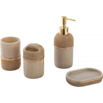 Pompousness Polyresin Bathroom Accessory Set 4-piece