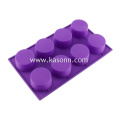8 Cavity Round Silicone Cupcake Liners Baking Pan