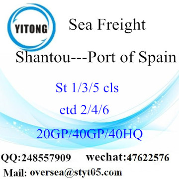 Shantou Port Sea Freight Shipping To Port of Spain