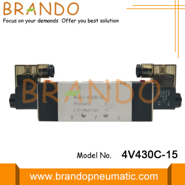 5Way 3Position 1/2'' 4V430C-15 Pneumatic Solenoid Valve