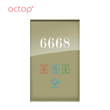 ACTOP door plate with keyhole