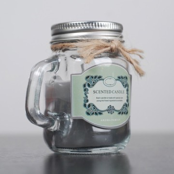 Lily Essential Oil Scented Candle in Mason Jar