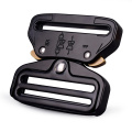 50mm Heavy Duty 18KN Steel Tactical Military Black Electrophoresis Cobra Belt Buckle