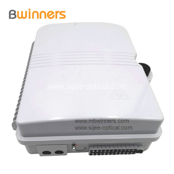 24 Port Optical Fiber Distribution Box With 1*16 Plc Fiber Splitter