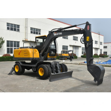 Multi-function 0.3m3 bucket mini wheel excavator