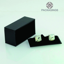 China New Product for Cufflink Box Packaging Custom black handmade cufflink box supply to Papua New Guinea Factory