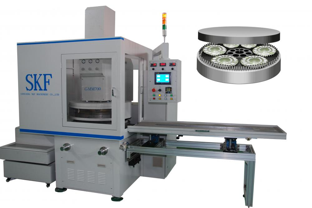 Hydraulic pump parts double sides surface finishing machine