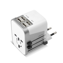 4 USB Port EU/UK/US/AU Plug Universal World Travel Adapter