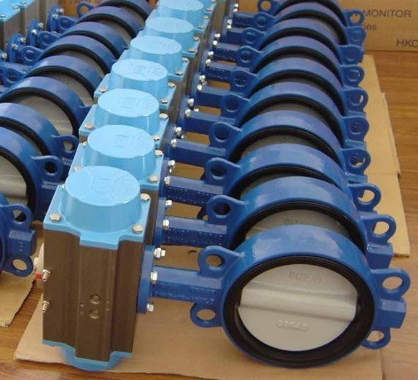 Electric Welded Double Flange Butterfly Valves Stainless