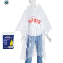 disposable Milky white color rain poncho