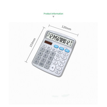 12 digits big display Metal faceplate calculator