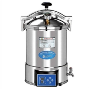 Digital display portable autoclave for lab