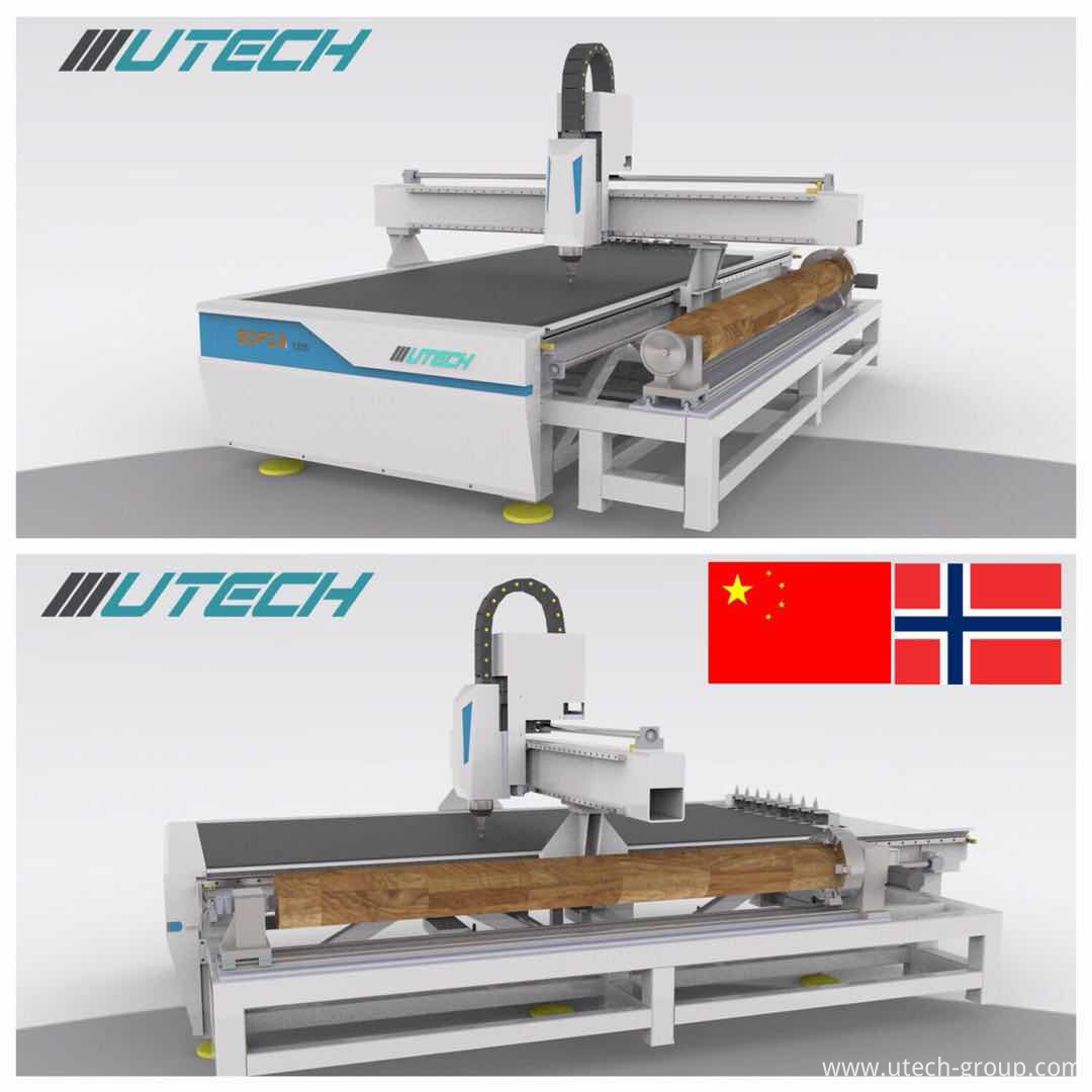 auto tool changer cnc router with side hang rotary structure