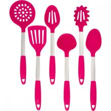 Bottom price for China Silicone Kitchen Tools And Utensils Set,Cooking Utensils Set Supplier Heat resistant Nylon kitchen utensils with silicone coated supply to Qatar Exporter