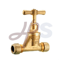 Brass compression stop valve