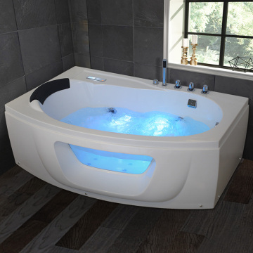 Economic Acrylic Glass both side massage abs bathtub