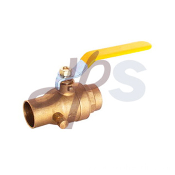 Hot forging brass solder ball valve