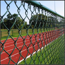 9 gauge green pvc coated chain link fence
