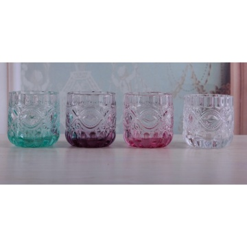 Glass Colorful Tealight Candle Holder