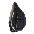 Customized Black Trendy Waist Sling Bag