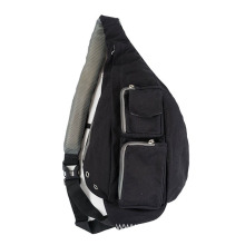 China Gold Supplier for Sport Crossbody Bags Customized Black Trendy Waist Sling Bag supply to Togo Wholesale