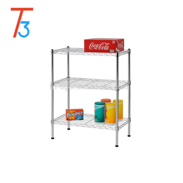 "Factory Heavy Duty Steel Adjustable Wire Shelving, 24"" Width x 30"" Height x 14"" Depth, 3 Shelves, Chrome"