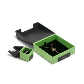 Bevel Connection and Flap-Open Paper Jewelry Watch Box