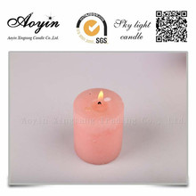 Different size Multi-colored Smokeless Pillar Candle