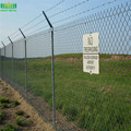 Cheap Electric Galvanized Then Powder Coated Airport Fence