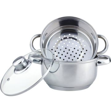 Cheapest 3pcs  stainless steel steamer