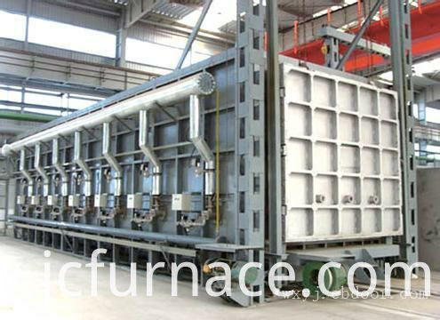 Electric Bogie Hearth trolly type furnace debugging