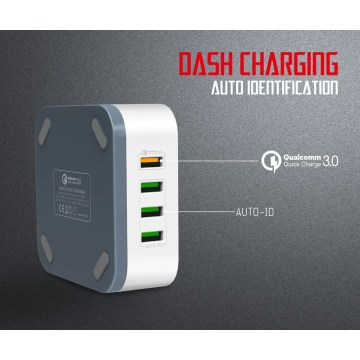 QC3.0 USB Quickly TRAVEL CHARGER Port