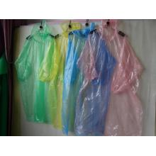 travelling disposable transparent raincoat  with sleeve