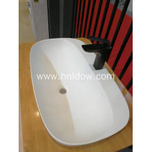 Top for Undercounter Washbasin Solid Surface modern embedded washbasin for cabinet supply to Solomon Islands Supplier