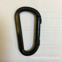 High Quality for Rock Climbing Carabiner Black Coated D Shape Climbing Carabiner 1500KGS export to Spain Importers