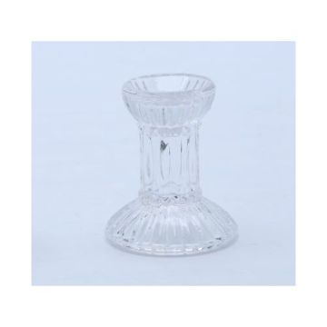 Glass Vintage Candlestick Holder