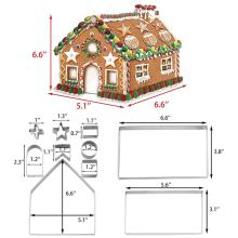 Gingerbread Chocolate House Cookie Cutter Set Kit